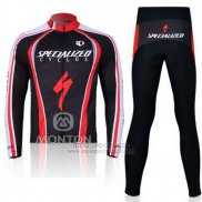 Ropa Mujer Specialized RBX Comp Cycling Mangas Largas Culotte Largo con Tirantes 2011 Rojo Negro