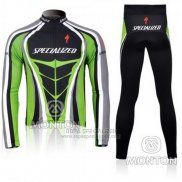 Ropa Mujer Specialized RBX Comp Cycling Mangas Largas Culotte Largo con Tirantes 2010 Verde Negro