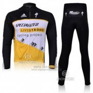 Ropa Mujer Specialized RBX Comp Cycling Mangas Largas Culotte Largo con Tirantes 2011 Negro Blanco Amarillo