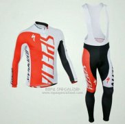 Ropa Mujer Specialized RBX Comp Cycling Mangas Largas Culotte Largo con Tirantes 2012 Blanco Rojo